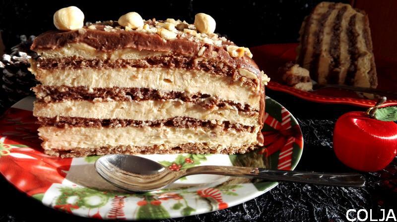 Torta sa lešnicima i karamelom1