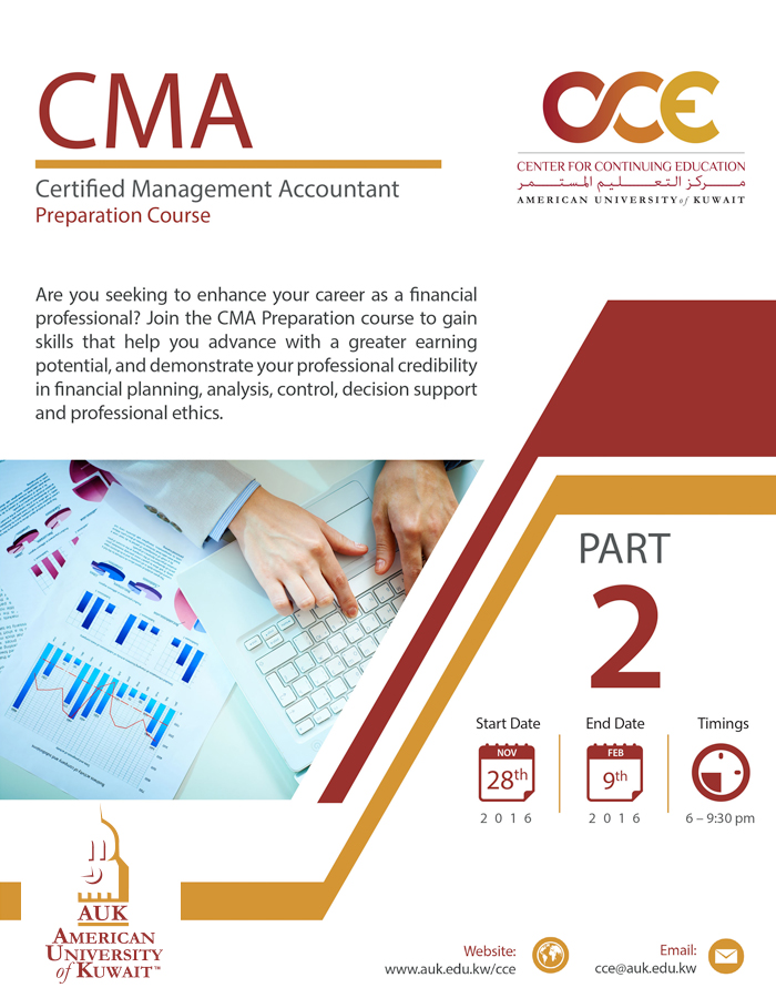 CMA Preparation Course @ AUK