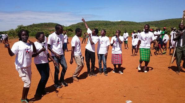Wenyewe Team Performing at the Kamrio Marathon