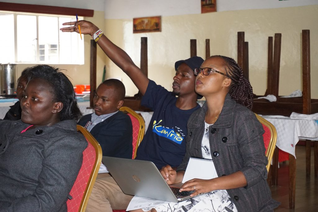 Kimutai Speaks up at the YESPeace Workshop