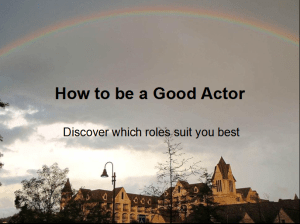 How to be a Good Actor