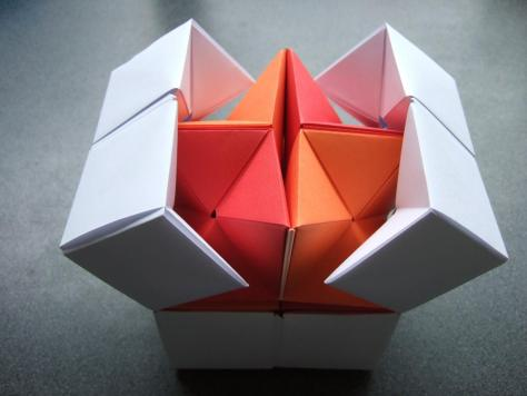 origami - action origami - double star flexicube (David Brill ...