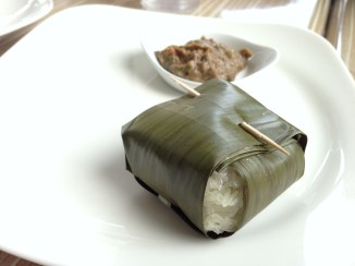 December: Set out to experience Dallas in a new way (photo of sticky rice at Malai Kitchen in Dallas).