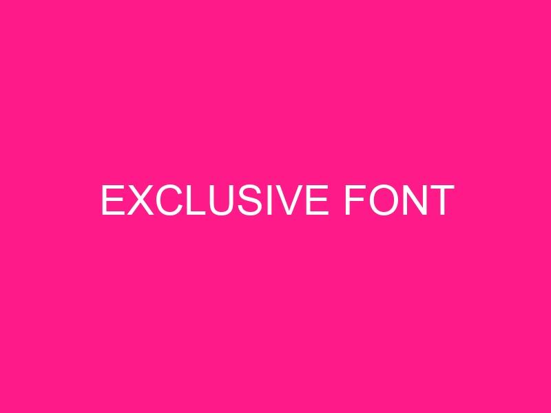 exclusive-font-2