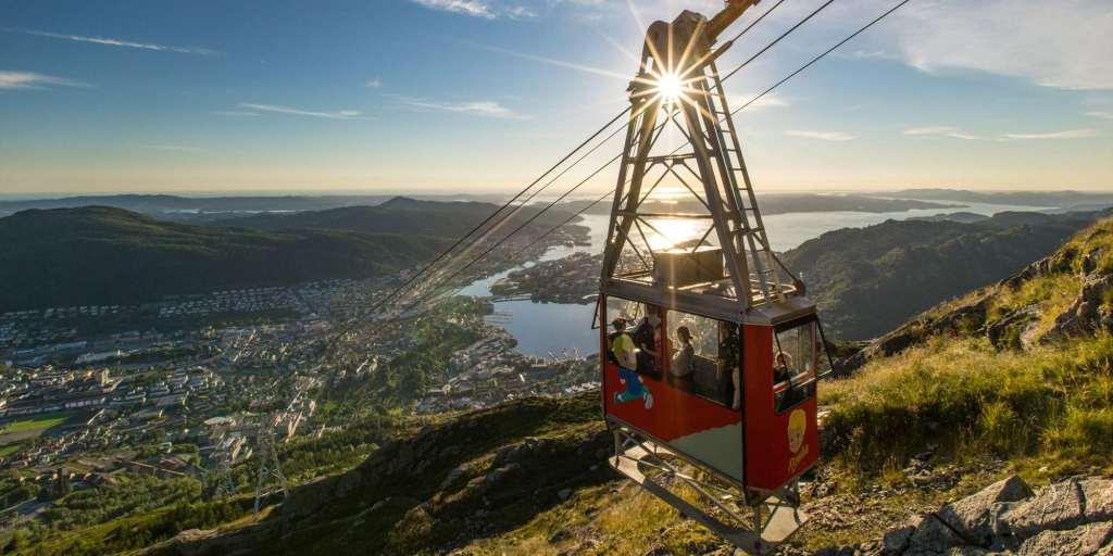 norveç bergen Ulriken314 Teleferiği