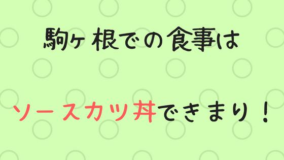 駒ヶ根 ソースカツ丼