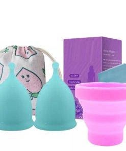 2x Menstrual cup 1x sterilizer 1x bag