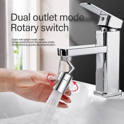 Tap Aerator 720°Rotation Universal Splash-Proof Swivel Water Saving Faucet Kitchen Tap Hole Water Tap Kitchen Fauce