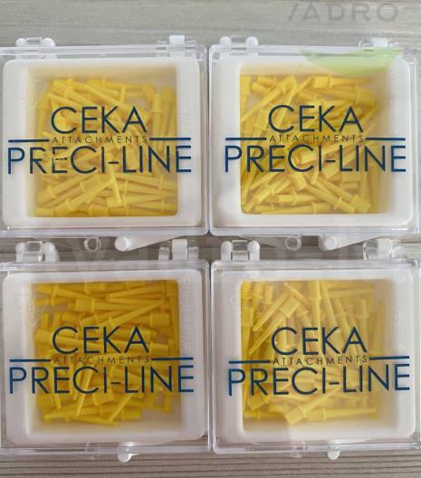 Штифти беззольні клінічні Ceka 2002G жовті