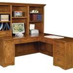 Mission Computer Desk Amish Solid Wood Desks Kvadro Furniture