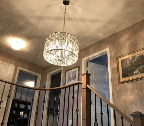 Chandelier Installation Woodbridge view 12