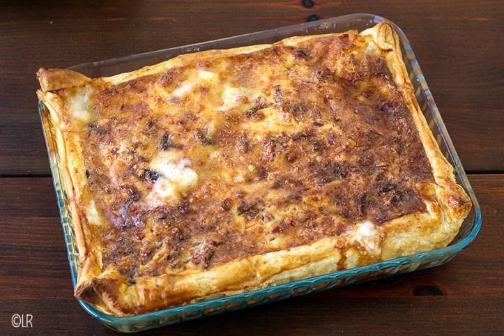 Knapperig bruin gebakken quiche - zowel warm als koud een traktatie.