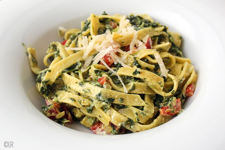 Lekkere vegetarische pasta als basis voor verder fantaseren.