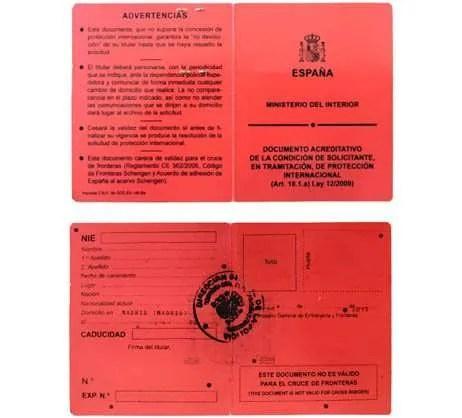 Tarjeta roja de proteccion internacional