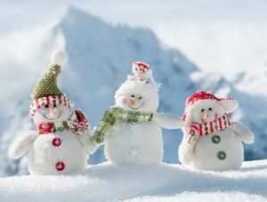Några gulliga snögubbar kan alltid behövas nu när det är så osnöogt ute..