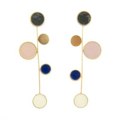 evening wear earrings 'confetti'