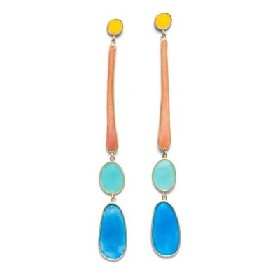 candystore large enamel drop earrings