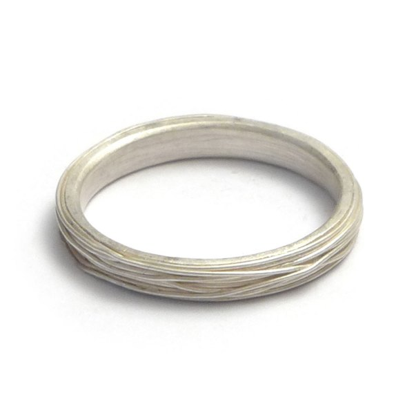 silver ring with silver wire