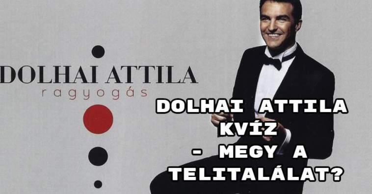 Dolhai Attila kvíz - Megy a telitalálat?