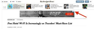 NY Times Banner Display Ad
