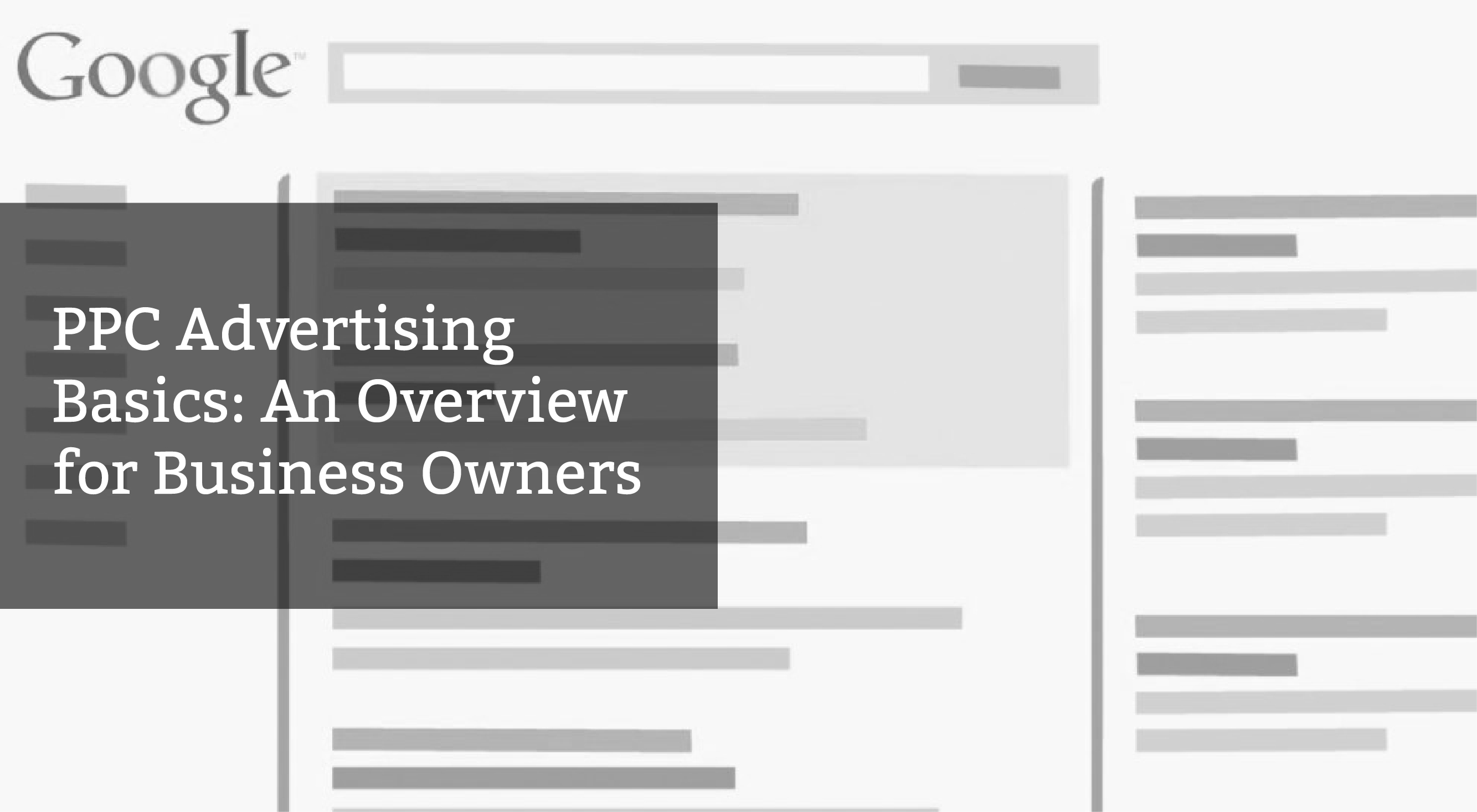 PPC Advertising Basics: An Overview for Business Owners