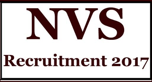 Navodaya Vidyalaya Samiti (NVS) Recruitment 2017