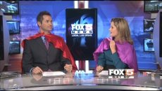 Fox 5 in Las Vegas Anchors wearing their PowerCapes