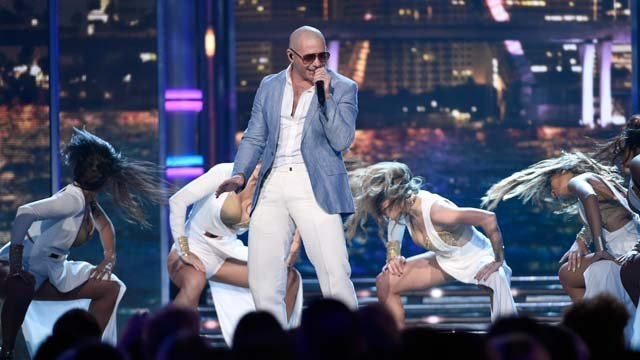 Pitbull performs at the Billboard Music Awards at the MGM Grand Garden Arena on Sunday, May 17, 2015, in Las Vegas. (Photo by Chris Pizzello/Invision/AP)