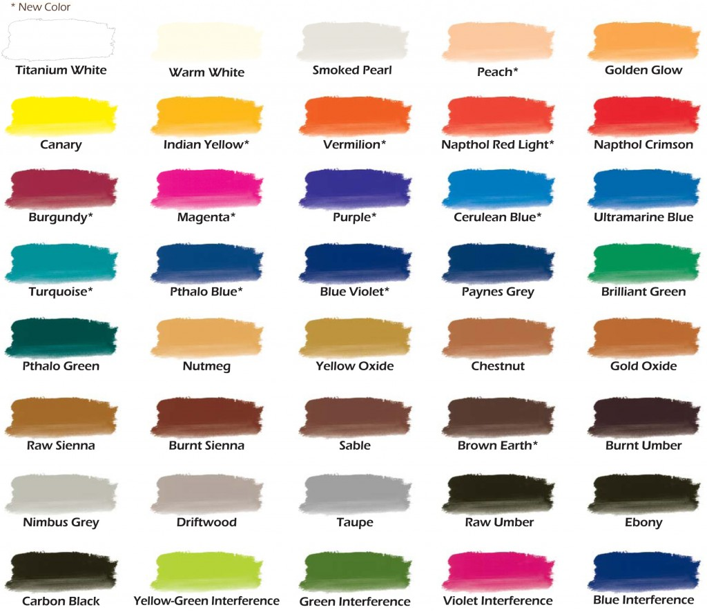 Chroma Airbrush Paint New Color Chart With More Colors