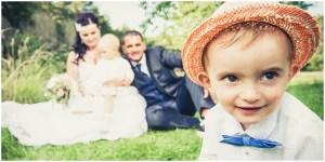 Hochzeitsfotografie Erfurt vintage im Freien Hochzeitsportraits mit zwei Kindern