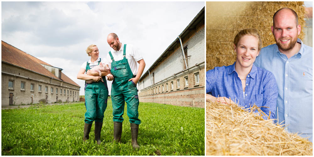 2 unterschiedliche Business - Portraits eines Landwirtspärchens