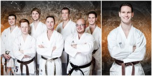 Business - Fotografie einer Karategruppe und Einzelkämpfer