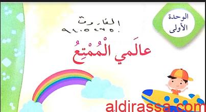حل الوحدة الاولى ( عالمي الممتع ) لغة عربية رابع فصل ثاني أ. الفاروق