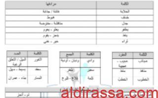مذكرة الثروة اللغوية الوحدة الاولى للصف الثامن للمعلم صالح أمين
