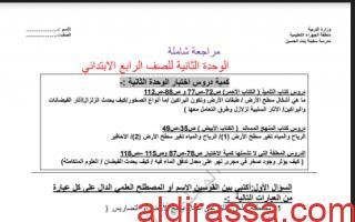مراجعة شاملة الوحدة الثانية اجتماعيات الصف الرابع للفصل الأول المعلمة فجر السعيدي