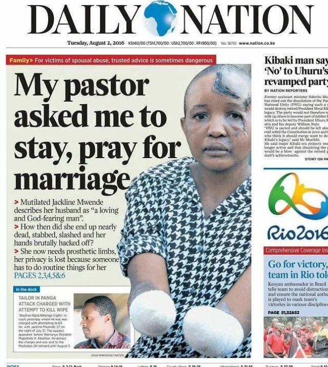 Battered Woman says she stayed on to save marriage – Kenyan
