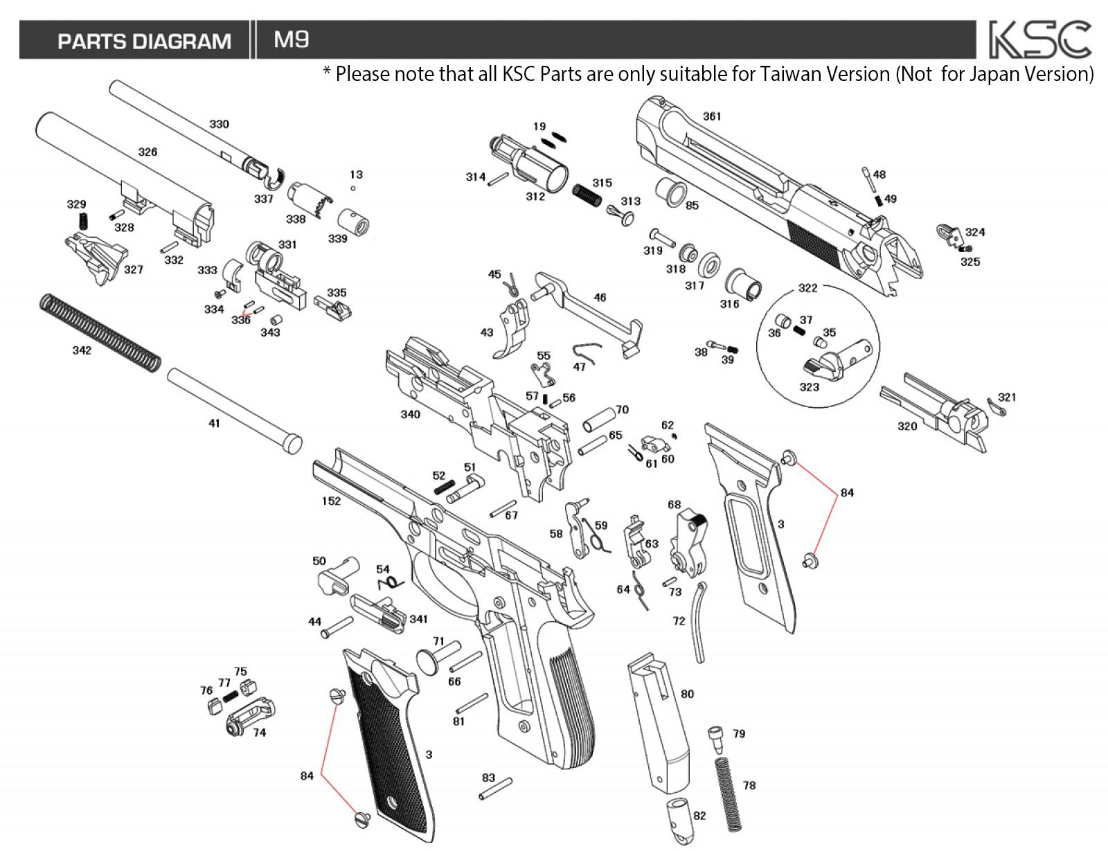 Ksc M9 Parts