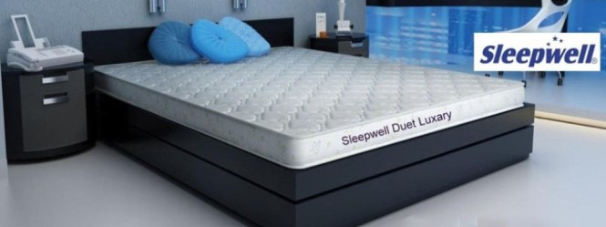 Sleepwell Memory Foam Mattress Duet Luxury 72 X36 X5