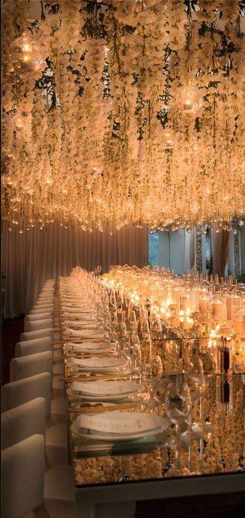 lustro stół weselny