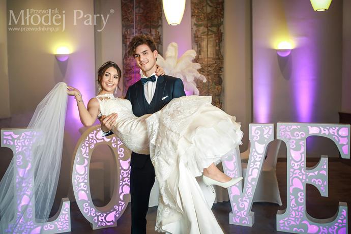 Młoda Para w stylu glamour wesele Art Hotel Wrocław