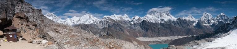 Panorama Himalajów z przełęczy Renjo La