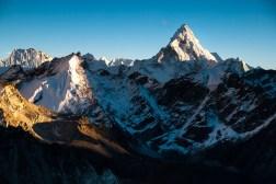 Zachód słońca ze szczytu Kala Patthar (5643m)