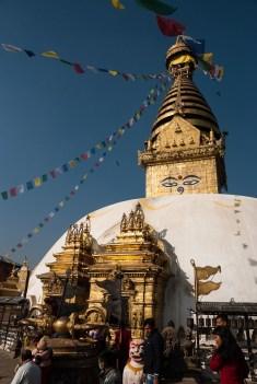 Stupa w Świątyni Małp /Monkey Temple/ Swayambunath