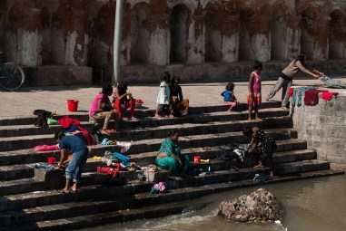 Pranie przy Pashupatinath