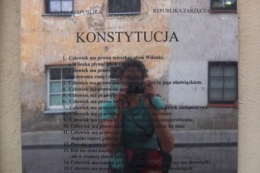 Konstytucja dzielnicy Uzupis
