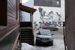 Graffiti na jednej z ulic w Tromsø