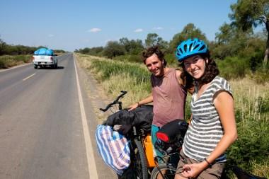 Pierwszy i jedyny turysta rowerowy spotkany w Paragwaju