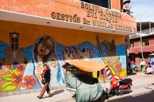 Mural na ścianie domu kultury w Entre Rios