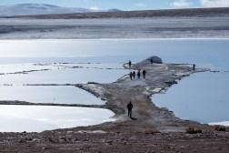Zamarznięta laguna Kollpa