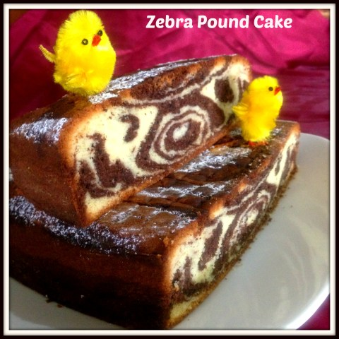 Hey, My Chick Want To Eat My Zebra Pound Cake !